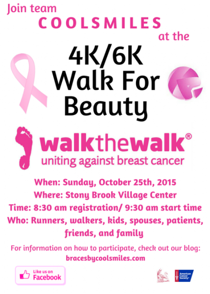 join team coolsmiles at the 4k  6k walk for beauty  uniting